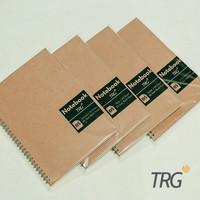 Buku Notebook B5 Dotted Grid Plain Ruled TRG - TRG Kraft Cover Spiral