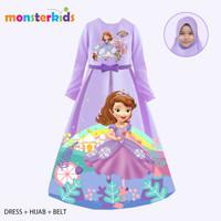 Gamis Sofia Anak Perempuan 5 - 13 Tahun . Baju Muslim Karakter KM-32B