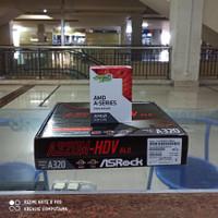 PAKET MOTHERBOARD ASROCK A320M HDV PROCESSOR AMD A8 9600 BOX ORIGINAL