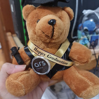 Boneka Wisuda Pin+Slempang nama Custom