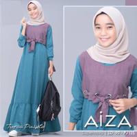 AIZA KIDS Baju Gamis Anak Perempuan Kekinian Usia 11 - 15 Tahun
