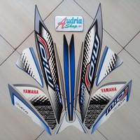Stiker Striping Motor Yamaha Mio J Sporty 2014 Putih-Biru