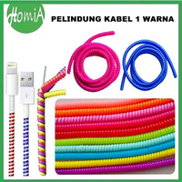 Pelindung Kabel Spiral Protector Cable Charger / Headset 1 Warna Solid