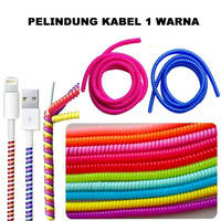 Pelindung Kabel Spiral 1 Warna Charger / Headset Cable Protector Solid