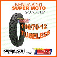 KENDA K761 110/70-12 TUBELESS,BAN SCOOTER DUAL PURPOSE RING 12