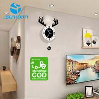 Jam Dinding Kepribadian Kreatif Kepala Rusa Nordic-9104