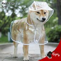 Jas Hujan Baju Anjing Kucing Polos / Dog Cat Rain Coat Transparan