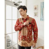 Kemeja Batik Pria   Lengan Panjang   Regular Fit   Adara - S