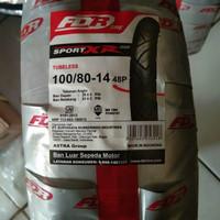 BAN LUAR FDR 100 /80-14 SPORT XR EVO TUBLESS DEPAN/BELAKANG MATIC