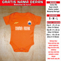 Baju Bola Bayi Baby Romper bayi Jumper bayi persija orange custom nama