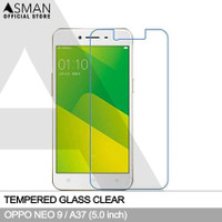 Asman Premium Tempered Glass Anti Gores for Oppo A37f / Neo 9 - Clear