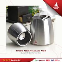 Firetric Asbak Rokok Anti Angin Cone Cylinder Stainless Steel