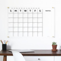 Daily Planner Akrilik   Wall Planner Acrylic Dinding  Schedule Board