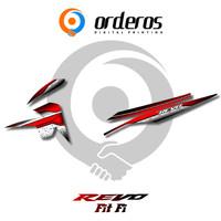 Striping REVO FIT - Stiker Variasi List Motor Motif Racing - B01