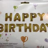 Balon foil set 13 pcs/Balon happy birtday/Dekorasi ulang tahun