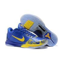 Sepatu Nike Kobe 5 Protro Rings Blue Yellow Original