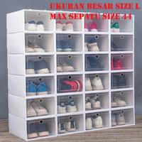 Kotak Sepatu Lipat / shoe box / kotak sepatu - Putih-Putih