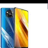 Hydrogel Xiaomi Poco X3 NFC Anti Gores Jelly Depan Belakang Full Cover