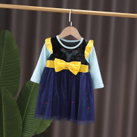 Dress Kostum Lengan Panjang Anak Bayi Princess Frozen Anna Import2T-6T