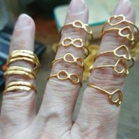 Cincin infinity 99% 990 emas asli murni 24k 24 karat murah 1 gram 1gr