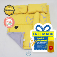 BEDCOVER BABY BAYI Love Yellow / Badcover Baby Bed Cover Selimut