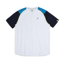 Prince Shoulder Panel Crew Performance T-Shirt White