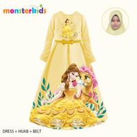Gamis Belle Anak Perempuan 5 - 13 Tahun . Baju Muslim Karakter KM-32C