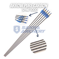 Anak Panah Arrow Musen Pure Carbon Spine 1000 ID 4.2mm - MSTJ-42BS