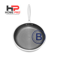 HOMEPRO - FRYPAN STAINLESS STEEL 26CM HONEYCOMB