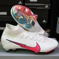 Sepatu Bola Nike Mercurial Superfly7 Elite Pearl White Pink Fg