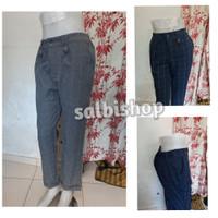 Celana kerja baggy pants motif kotak celana bahan panjang