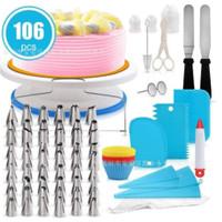 106 piece cake turntable set decorating mouth baking tool hias kue