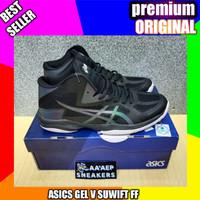 sepatu volly asics gel v suift ff black _premium original