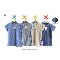 NARY 3Pcs Oblong Pendek RIB Denim Series - Atasan Bayi Size 0-6 Bulan