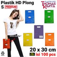 Kantong Plastik HD Plong 20x30 CM Shopping Bag Online Shop Pilih warna
