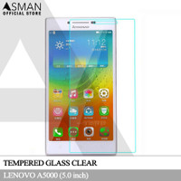Tempered Glass Lenovo A5000 | Pelindung Layar Anti Gores Kaca - Bening