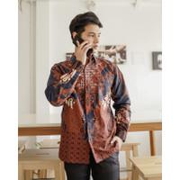 Kemeja Batik Pria   Lengan Panjang   Regular Fit   Adhaya - S