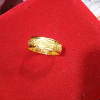 Cincin tunangan pasir emas 24k