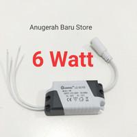 Driver LED lampu Downlight panel max 6 watt adaptor trafo led balast