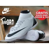 Sepatu Futsal Desain Nike Mercurial superflyx VI Elite Ukuran 38-43 - Putih, 39