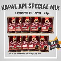 Kapal Api Special mix Kopi dan Gula Scht 24gr isi 10pcs rencengan