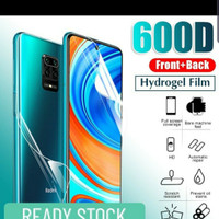 Hydrogel Redmi Note 9 Pro Anti Gores Jelly Depan Belakang Full Cover