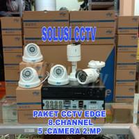 PAKET CCTV EDGE 8 CHANNEL 5 CAMERA EDGE 2 MP 1080P + HDD 1 TB