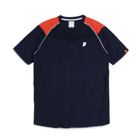 Prince Shoulder Panel Crew Performance T-Shirt Navy
