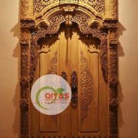 set pintu rumah kayu jati TIPE GEBYOK UKURAN 120x250 harga termurah