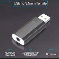 Adapter Usb A 2.0 To Aux 3.5mm Female Soundcard OMTP TRRS audio Jack