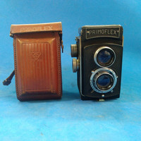 kamera tlr lengkap dengan leather case jadul vintage antik lawas kuno