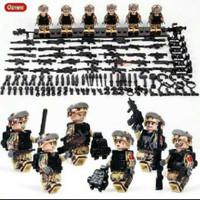 Lego Set Swat 6 pcs Weapons Polisi Tentara Militer Army Soldier