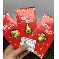 angpao emas hongkong 24K / real gold / logam mulia / money hongbao
