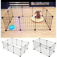 Kandang pagar simple untuk anjing kecil, kucing kecil, kelinci 10panel